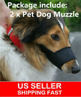 2PCS Dog Safety Adjustable Breathable Muzzle Stop Biting Barking Nipping Chewing