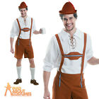 Adult Mr Oktoberfest Guy Costume Mens Bavarian Beer Man Lederhosen Ouftit New