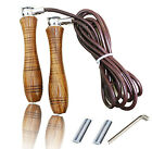 HAQ Pro Leather Skipping Speed Rope Adjustable Weighted/Non weighted Fitness