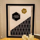 Personalized Black And Gold Opulence Wedding Signing Certificate Series