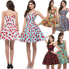Vintage 1950s Rockabilly Swing Pin up Retro Cherry Print Prom Party JIVE dresses