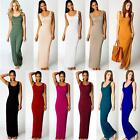 New Stylish Women Vest Tank Cotton Stretch Casual Summer Maxi Long Dress