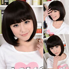 6 Color  BOB Head Straight Bang cosplay Costume Party Short Straight Full Wigs