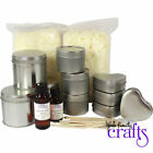 MIXED TIN LARGE Candle Making Kit - Makes 10 Tin Candles -   FREE UK DELIVERY