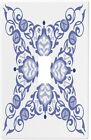 Blue 4 Pointed Design Wallplate Wall Plate Decorative Light Switch Plate Cover