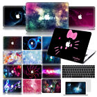 """3D Macbook Case + 2X Rubberized Keyboard +Screen Cover For Air Pro 13""""15"""" Retina"""