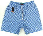 "PIERRE CARDIN ""Swimwear"" mens surf board shorts swim trunks (blue/white) NEW"