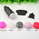 1Pc Nail Art Stamper Head Round Soft Silica Gel Nail Stamper Refill Jelly Color