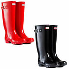 HUNTER WOMENS HUNTRESS GLOSS WELLINGTON BOOTS - NEW LADIES WATERPROOF FOOTWEAR