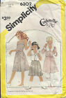Simplicity 6302 Sew Pattern Girls' Sz 8 Cinderella FITTED DRESS & UNLINED JACKET