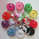 Premium Coloured USB Charger Flat Noodle Cables x3 for iPhone 3G/3GS 4/4S