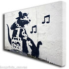 BANKSY GHETTO RAT GRAFFITI CANVAS WALL ART BOX PRINT PICTURE SMALL/MEDIUM/LARGE