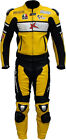 RTX Rossi WGP Vintage Yellow MotoGP Motorcycle 2 Pc Leather Jacket