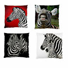 NEW~AFRICA ZEBRA~UR CHOICE~NEW~SMOOTH FIRM FEEL PATIO CUSHION CASE~2SIDE PRINT