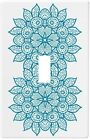 Oriental Teal Blue Mandala Wall Plate Decorative Light Switch Plate Cover