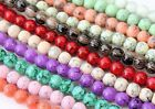 Glass Drawbench Round Marble Effect Bead 6mm Colour Choice 135pcsJewellery Craft