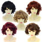 Wiwigs Short Curly Blonde Black Brown Red Summer Style Skin Top Ladies Wigs