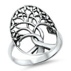 Womens 925 Sterling Silver Tree of Life Ring Size 7 8 9 10