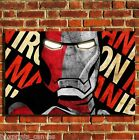 IRON MAN MOVIE MARVEL COOL CANVAS WALL ART BOX PRINT PICTURE SMALL/MEDIUM/LARGE