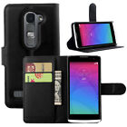Luxury Book Flip Magnetic Card Wallet PU Leather Case Stand Cover For LG Leon