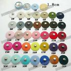 10pcs Fabric covered Metal Snap Fasteners Press Stud Buttons Sewing 18mm Pick