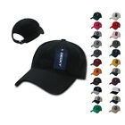 DECKY Relaxed Low Crown Dad Caps Hats - Washed Cotton Polo Vintage 6 Panel