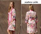 Women's 100% Pure Silk Chemise Babydoll Robes Bathrobes Gowns Nightwear AS195