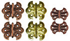 BRASS PLATED STEEL ORNAMENTAL, BUTTERFLY HINGE, 2 finishes, Lots of 2, 6 and 12
