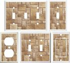 STONE TILE BROWN IMAGE OF HOME DECOR LIGHT SWITCH COVER PLATE OR OUTLET V790