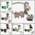 SET of 5 Charm Beads with Personalised Heart or Age ~ FOR Bracelet or Necklace