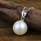 s403 2016 new AAA+ 10-11mm 11-12mm white akoya pearl necklace Pendants silver