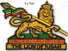 Iron on Patch Patches Rasta Reggae Roots Lion Of Judah Africa Haile Selassie I