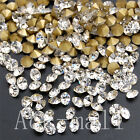 Wholesale Clear Pointed Back Crystal Rhinestone Scrapbook 1-8mm Jewelry Design