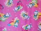 Smurfette Pink Fabric, Smurfs, Quilting, Sewing, Fat Quarter By the Yard