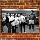 BEATLES AND ALI COOL MUSIC CANVAS WALL ART BOX PRINT PICTURE SMALL/MEDIUM/LARGE