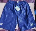 Soccer shorts New York Cosmos adult men official UMBRO player blue lined nwt M