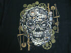 STEAM PUNK MECHANICAL SKULL GEARS BIKER HOT ROD  SLEEVELESS T SHIRT
