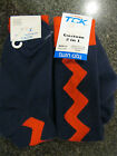 Twin City Knitting Over-Calf Footed Socks Lightning  Navy Red RZZ12 Large