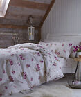 Catherine Lansfield Brushed Floral Modern Duvet Cover Pillowcase Set
