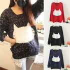 Fashion Women Long Sleeve Knitted Pullover Jumper Loose Sweater Knitwear Tops