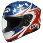 Shoei X-12 B-Boz2 Motorcycle Helmet Blue/White/Red Race Track Road