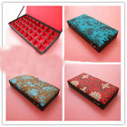 Chinese Handmade Silk Gorgeous Rectangle Jewelry Box 32 Cute Square Compartment