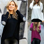 New Women Ladies Summer Long Sleeve Blouse Loose Shirt Tops Loose T Shirt
