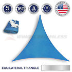 Customize Sun Shade Sail Fabric Outdoor Pool Canopy 12'/13'/14'/15'/16'/17' Blue