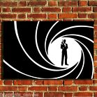 JAMES BOND 007 FILM MOVIE CANVAS WALL ART BOX PRINT PICTURE SMALL/MEDIUM/LARGE