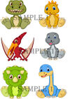 DINOSAURS IRON ON TRANSFERS FULL A4 SHEET Vests/Pants/Duvets/Blinds etc Ref1KP