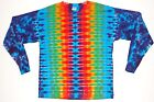 Adult Long Sleeve TIE DYE Rainbow DNA T Shirt small med large XL grateful dead