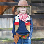 NEW! TRAVIS COWBOY HAT WAISTCOAT ACCESSORY SET FANCY DRESS UP 3-4-5 & 6-7-8 YEAR