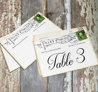 LARGE DOUBLE or SINGLE SIDED VINTAGE POSTCARD WEDDING TABLE CARDS or SIGNS #122