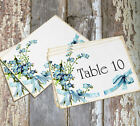 DOUBLE or SINGLE SIDED BLUE FORGET ME NOT FLOWER WEDDING TABLE CARDS or SIGN #65